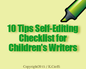 Children's writing self-editing tips
