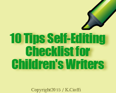 Children's writing self-editing tips