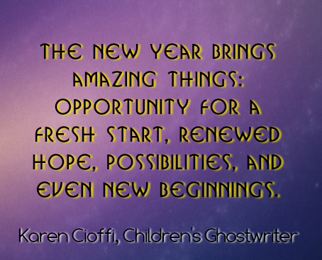 The new year brings amazing things . . .