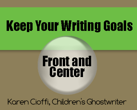 Have focused writing goals.