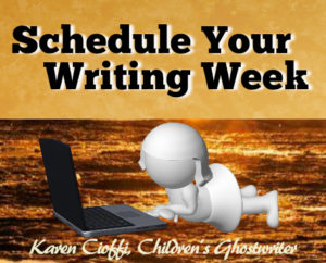 Tips to scheduling your writing week