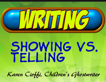 Showing and telling in your writing