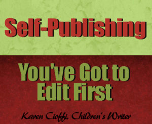 Edit before you self-publish